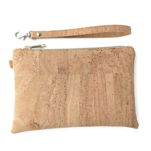 Cork leather pouch natural