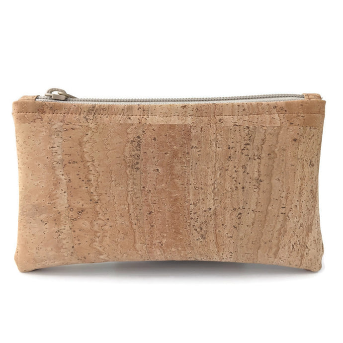 Slim cork leather purse/ phone pouch