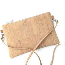 Load image into Gallery viewer, Small cork cross body bag, natural