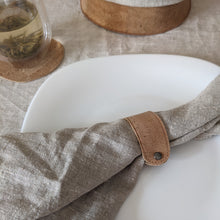 Load image into Gallery viewer, Cork leather napkin rings