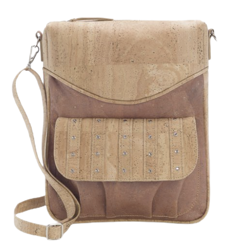 Studded cork backpack, warm natural