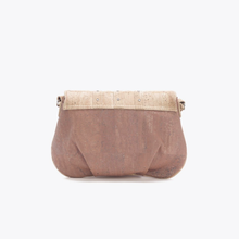 Load image into Gallery viewer, Small studded cork  bag, warm natural
