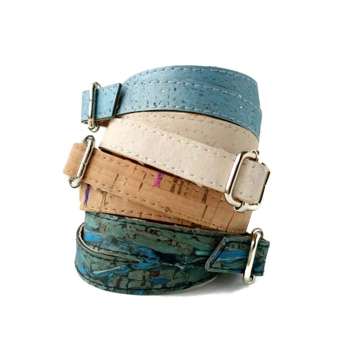 Cork double sided wrap bracelet