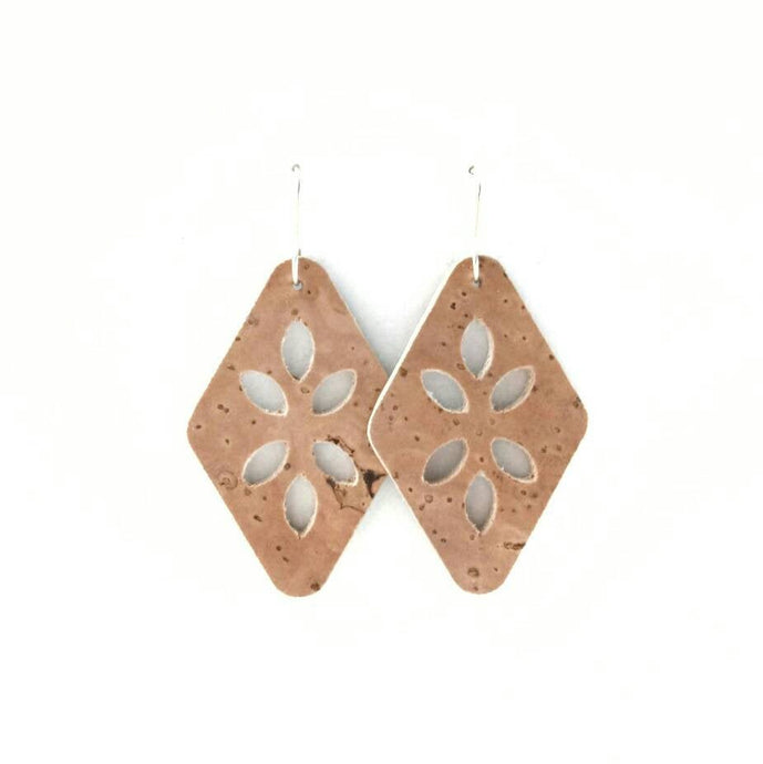 Cut Out cork earrings natural