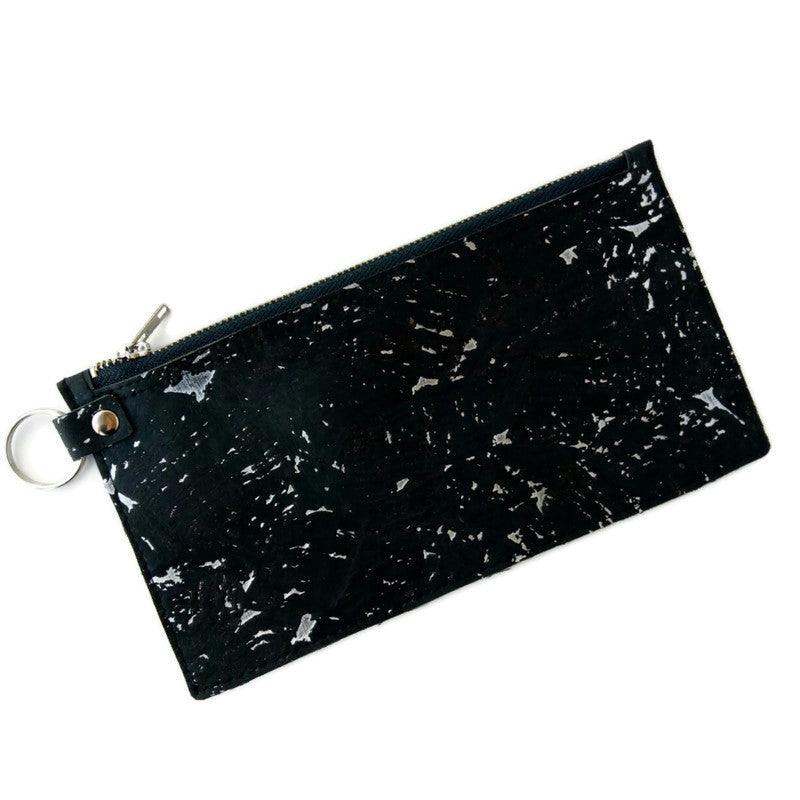 Raw edge small purse