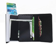 Load image into Gallery viewer, Carbon Fiber PU Leather Blocking Rfid Wallet