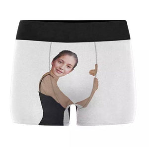 Custom Girlfriend Hugs Boxer Shorts