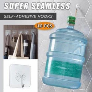 Seamless Adhesive Hook (10 Pcs)