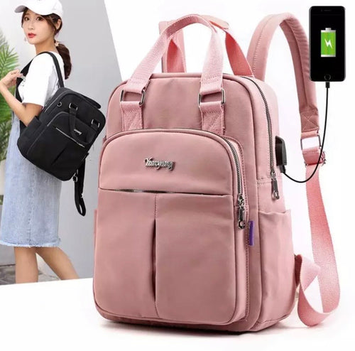College student Canvas Casual Patchwork Backpack