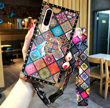 Load image into Gallery viewer, Bohemian Retro Crystal Bracket Phone Case for iPhone & Samsung
