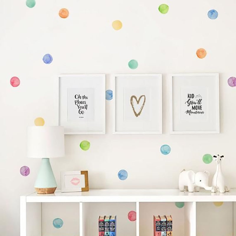 Vinyl Wall Colored Dots Creative Stickers-TotstoKids