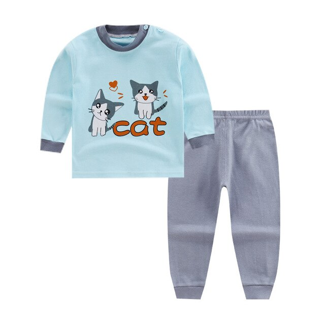 Warm Comfy Baby Cartoon 2Pcs Set-TotstoKids