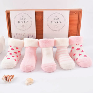 Cute Douding 5 Pairs/lot Baby Socks-TotstoKids