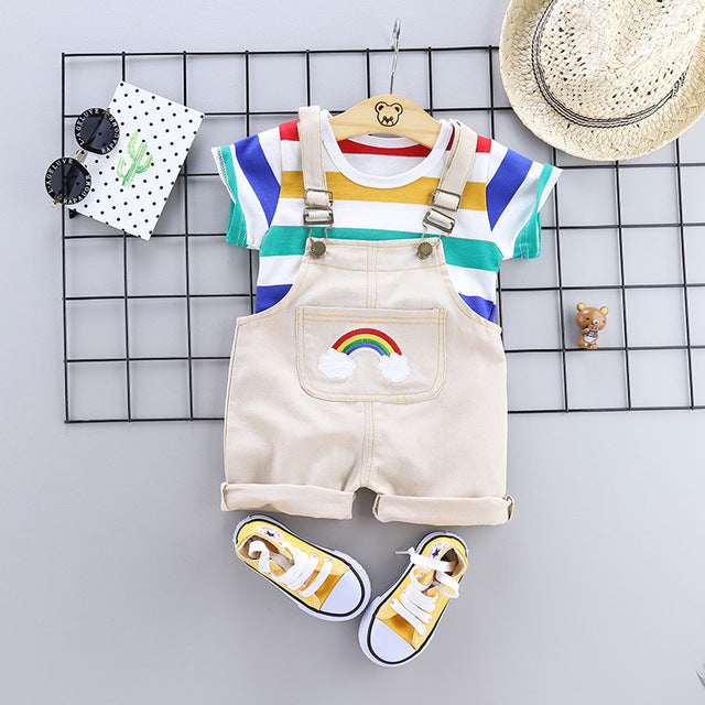 Unisex Striped Tracksuit Outfit-TotstoKids