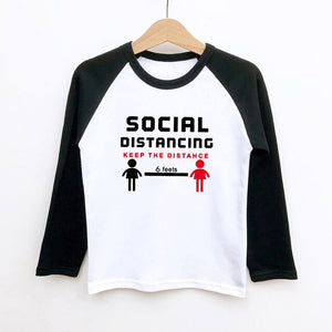 Social Distancing Keep The Distance Kids T-Shirt