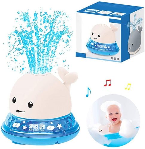 Whale Baby Bath Toy Sprinkler Ball with Light Music-TotstoKids