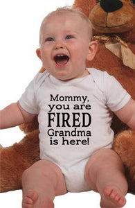 Mum You Are Fired Grandma Is Here Vest