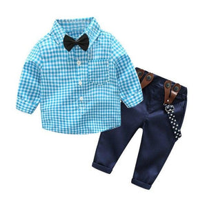 Boys Worsted Striped Style Outfit-TotstoKids