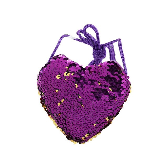 Cute Girls' Purse with Heart Design Print