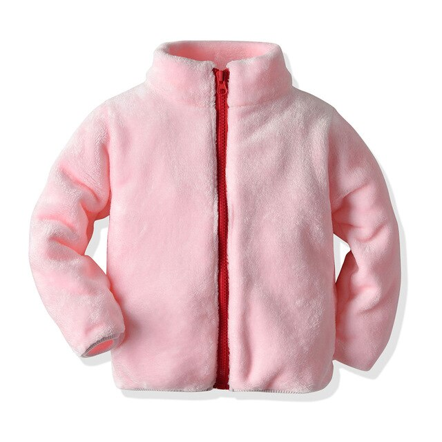 Unisex Baby Casual Zipper Fleece Coats