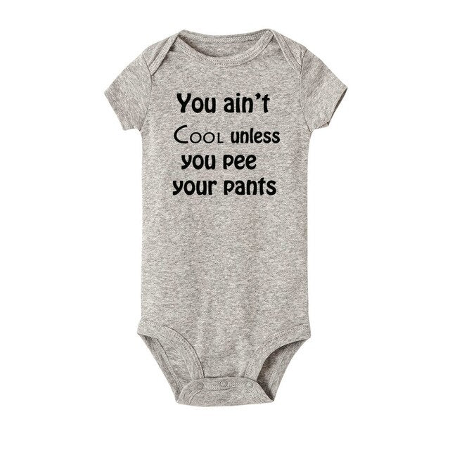 You Ain't Cool You Funny Baby Bodysuit