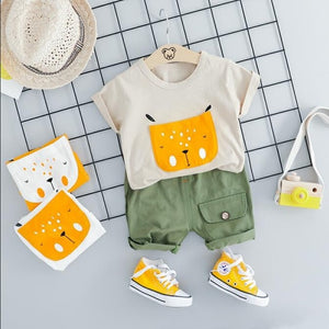 Cartoon Face Toddlers' Outfit-TotstoKids