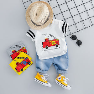 Toddlers' Denim & Top Causal Set-TotstoKids