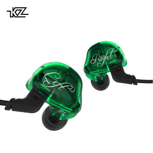 KZ ZSR Six Drivers In Ear Earphones Armature & Dynamic Hybrid Gaming Headset Hifi Bass Noise Cancelling Headphones for phone