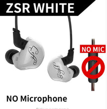 Load image into Gallery viewer, KZ ZSR Six Drivers In Ear Earphones Armature & Dynamic Hybrid Gaming Headset Hifi Bass Noise Cancelling Headphones for phone