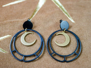 Art deco moon circle earrings (Limited edition)