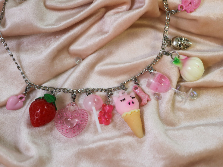 Pink lollipop charm mix and match