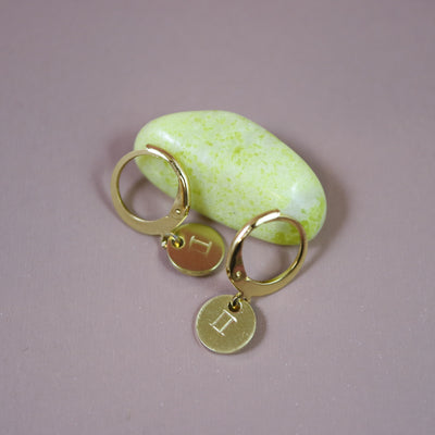 Gemini zodiac mini hoops