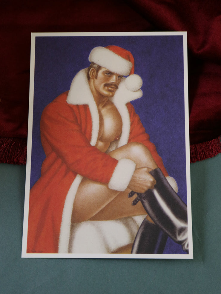 Tom of Finland postcard a very merry christmas