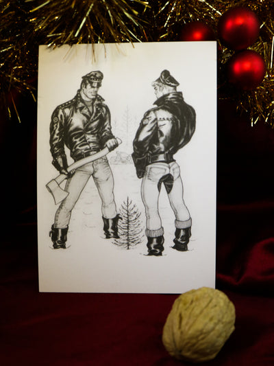 Tom of Finland postcard My christmas tree is bigger than yours
