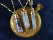 Natural kyanite column necklace