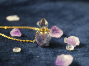 Magical fluorite vial necklace