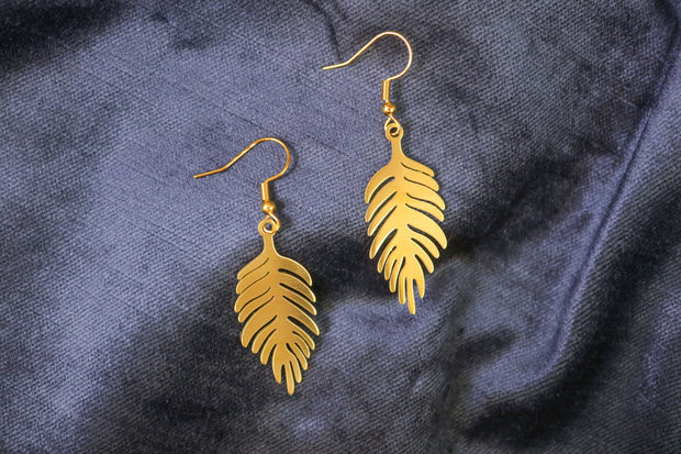 Leafy leaf earrings