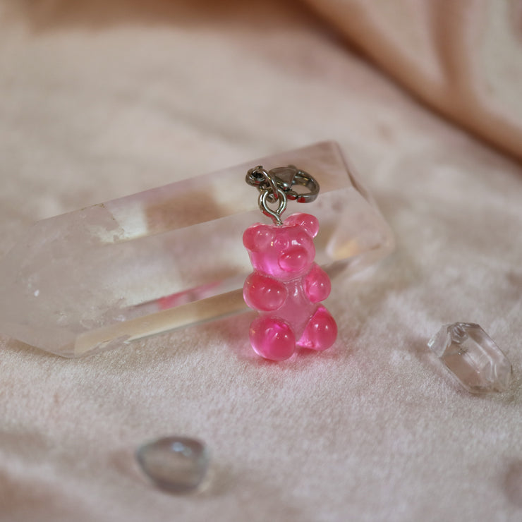 Pink gummy bear charm mix and match