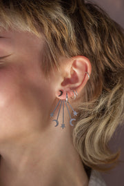 Silver star and moon earrings (Limited edition)