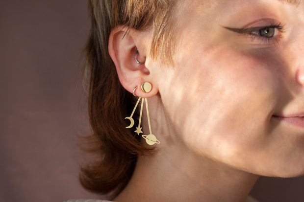 Golden cosmos earrings (Limited edition)