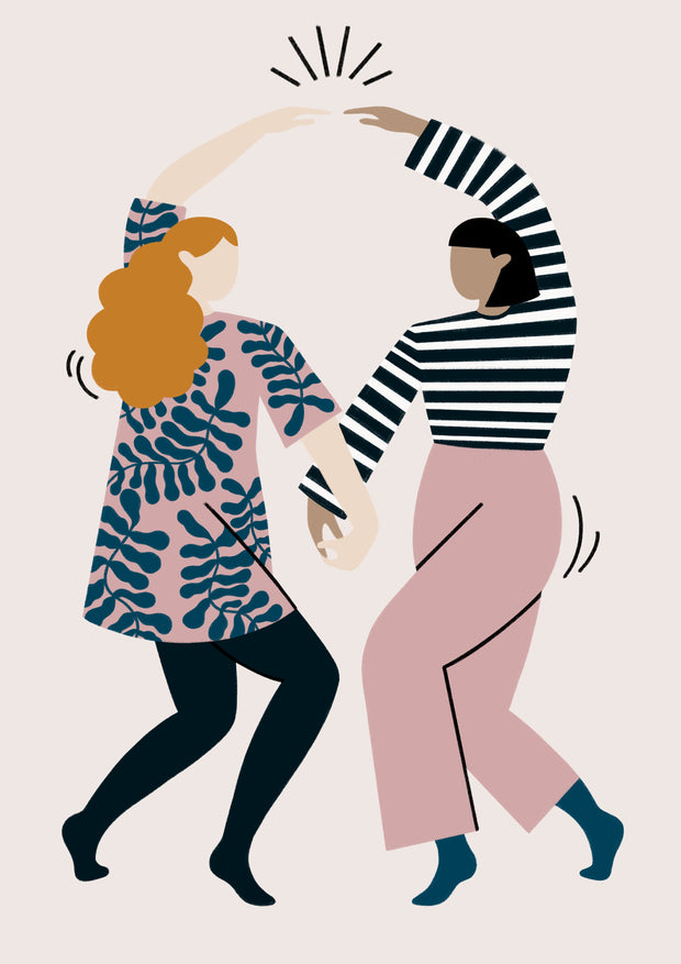 Dance art print by Ida Alvarsson