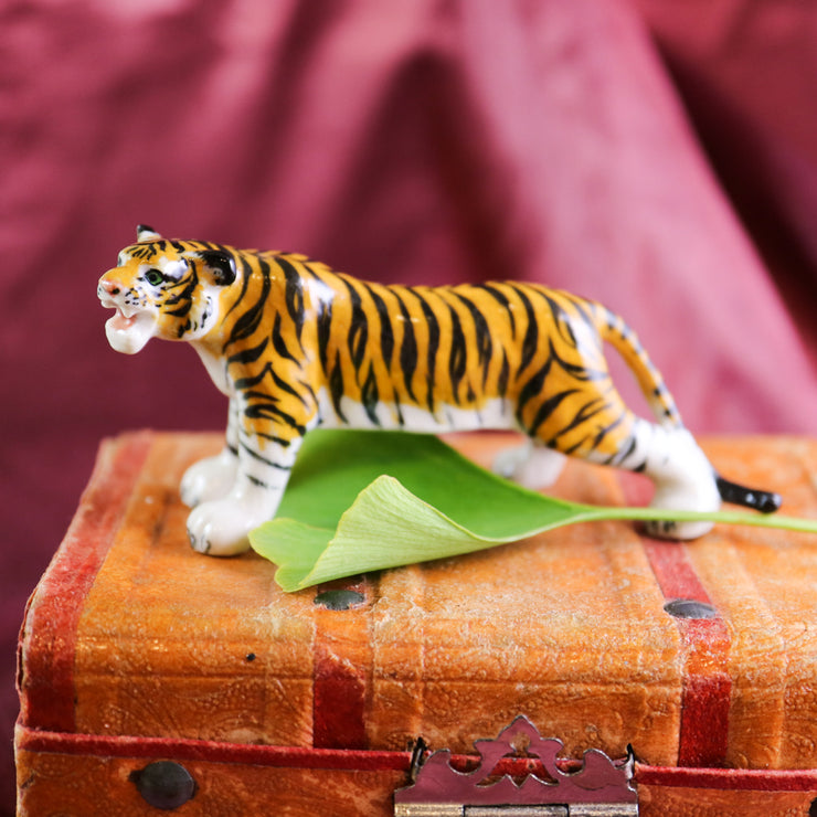 Small but majestic tiger figurine