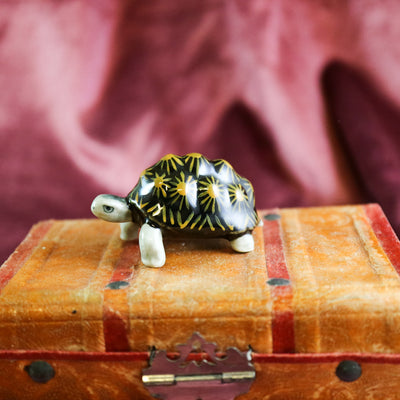 Miniature turtle figurine