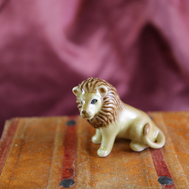 Miniature mister lion figurine