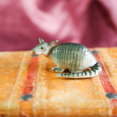 Miniature armadillo figurine