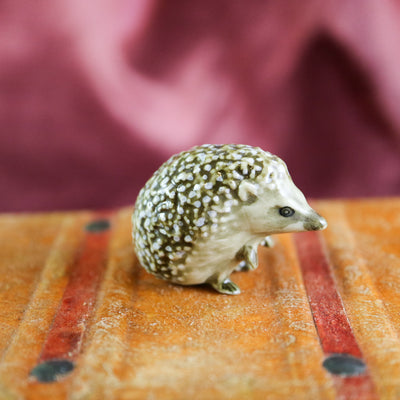 Miniature hedgehog figurine