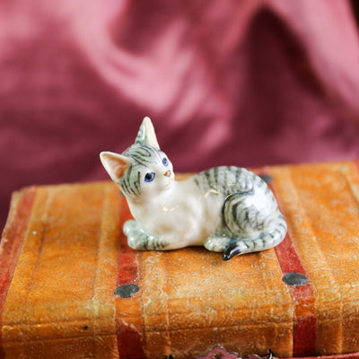 Miniature cat figurine
