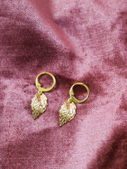 Golden wych elm earrings