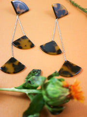 Dangly tortoiseshell earrings