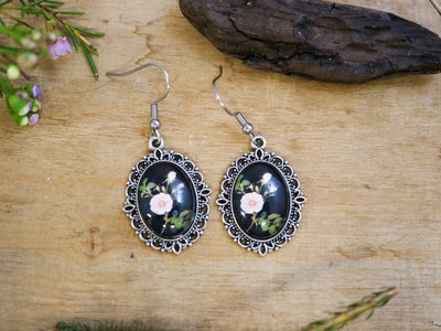 Delany tea rose earrings